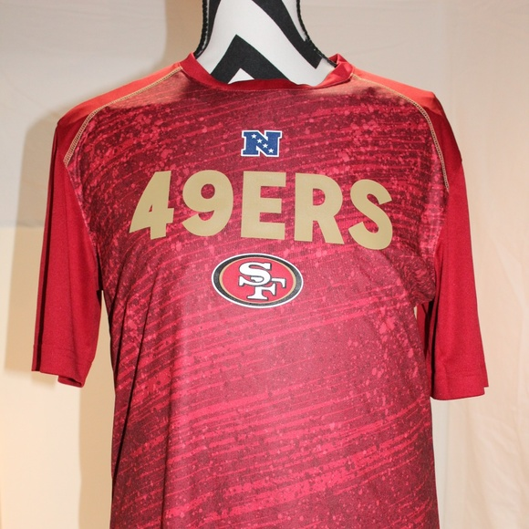 San Francisco 49rs Mens Absolute Speed Synthetic T. NWT. NFL Team apparel 474776dd2